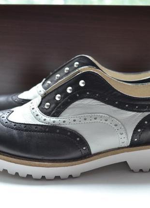 Madame clode 39р туфли оксфорды кожаные.