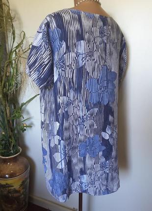 Льняная блуза интересного фасона  пог 664 фото