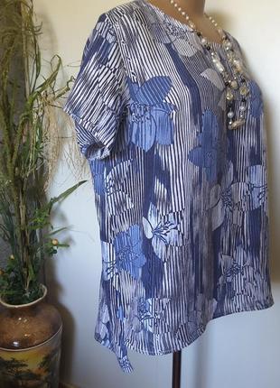 Льняная блуза интересного фасона  пог 665 фото