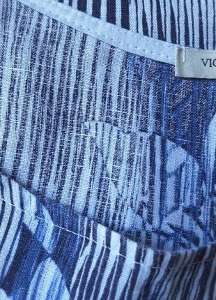 Льняная блуза интересного фасона  пог 667 фото