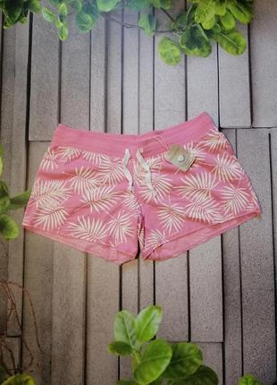 Розовые просторные шорты с принтом