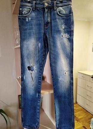 Супер стильные джинсы деним,плотный котон, zara,р.s/44.