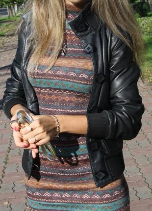 Кожаная курточка на пуговицах