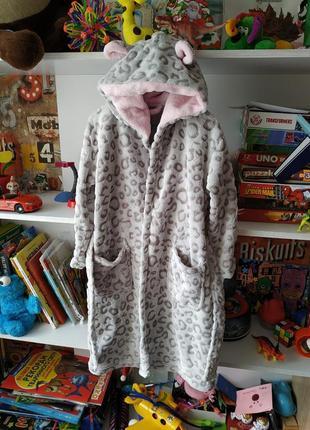 Плюшевый халат f&f на девочку 5-6 лет, 110-116 см