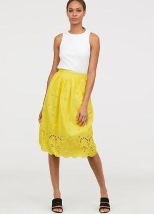Шикарная летняя юбка из 100% котона