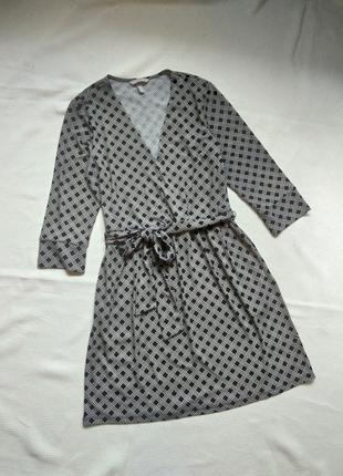 Платье сукня в клетку с рукавом