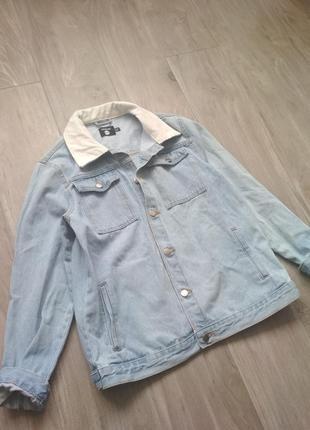 Удлиненная джинсовка boohoo