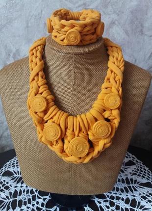 Колье з браслетом/украшения на шею подвеска чокер ожерелье браслет ручная работа/
