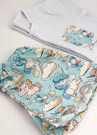 Пижама с единорогами.лучший вариант на лето