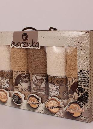 Набор махровых кухонных полотенец merzuka