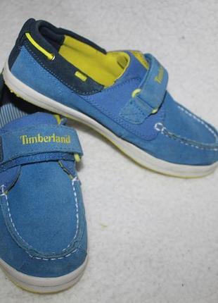 Кожаные туфли мокасины фирмы timberland 35 размера