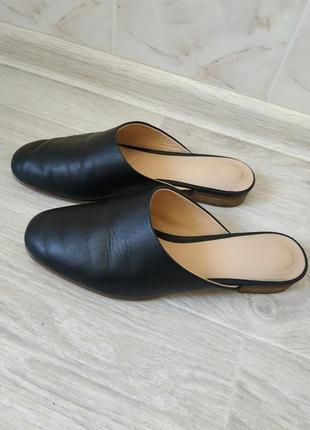 Жкнские мюли,кожаные босоножки,кожаные сабо,женская кожаная обувь