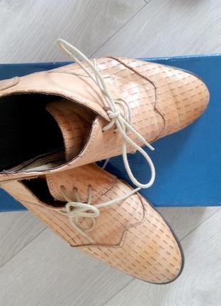 Туфли кожаные стильные оригинальные bronx