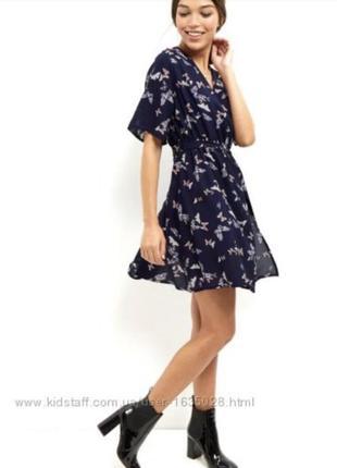 Синее платье на запах от new look4 фото