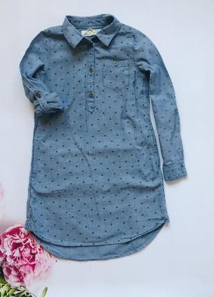 H&m стильная туника-рубашка  на девочку 6-7 лет