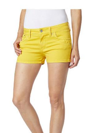 Женские летние жёлтые короткие шорты