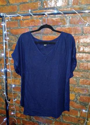 Женственная блуза кофточка прямого кроя с v-образным вырезом atmosphere