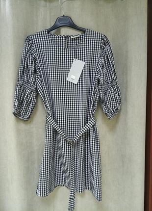Короткое платье в клетку minimum