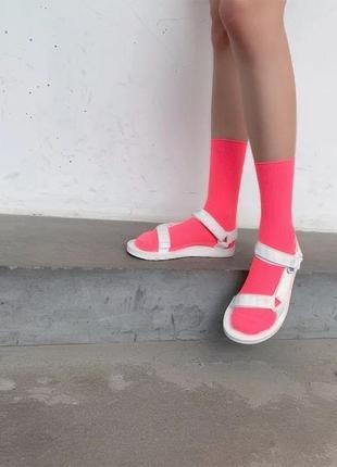 Хит 2019/неоновые носки/розовый/стильно/тренд/новая коллекция