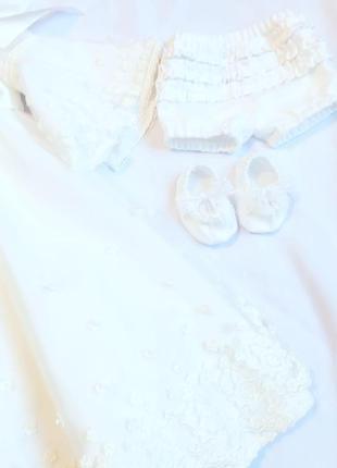 Комплект на хрестини , сукня
