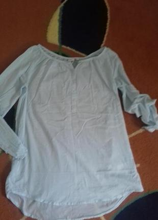 Пляжная тонкая удлиненная рубашка