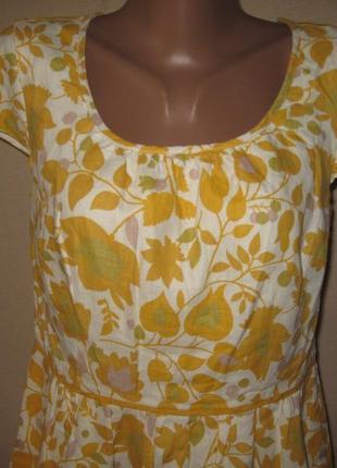 Льняное платье boden р-р10l