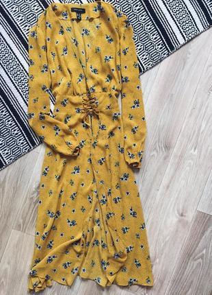 Легкая накидка со шнуровкой в цветочный принт new look