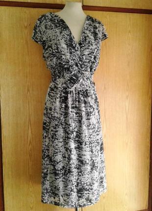 Катоновое платье серое меланж, 4xl - 5xl.