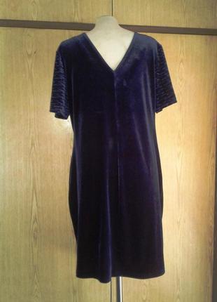 Велюровое синее платье , 3xl.3 фото