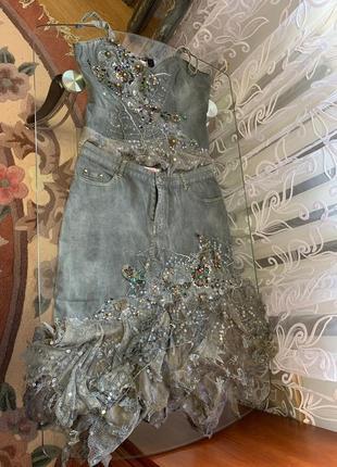 Нереальной красоты джинсовый костюм