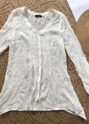 Белая блуза свободного кроя рубашка белая розлетайка