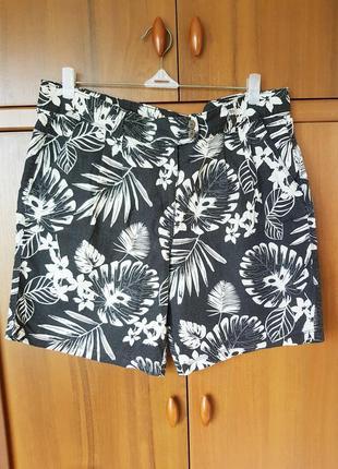 Льняные шорты размер 50-52