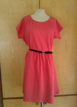 Розовое кремпленовое платье, 3xl - 4xl.