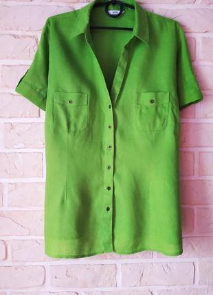 Изумительная, льняная блуза, большой размер