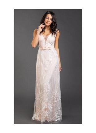Вечернее выпускное свадебное кружевное платье