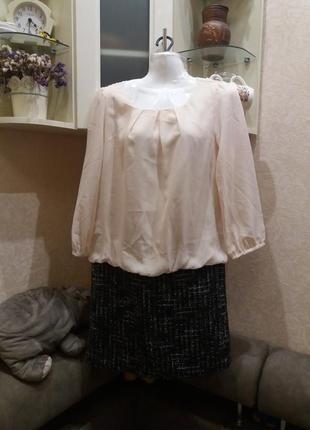 Комбинированное платье с напуском . бренд-natural beauty basic -c-m  распродажа1 фото