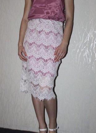 Красивый, нарядный костюм топ и юбка