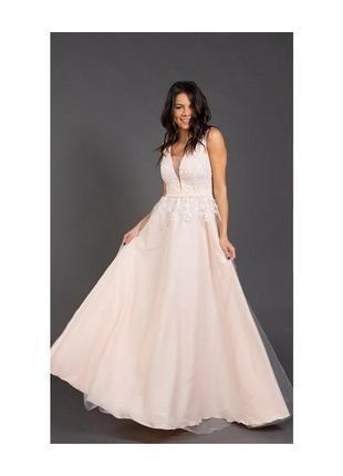 Вечернее выпускное свадебное нарядное платье