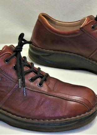 Удобные мужские туфли finn comfort размер 12 кожаные
