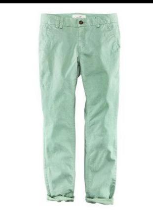 Чиносы брюки мятные