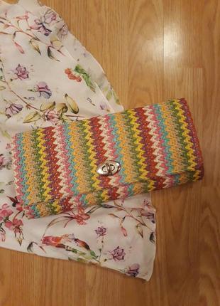 Плетеная сумка клатч