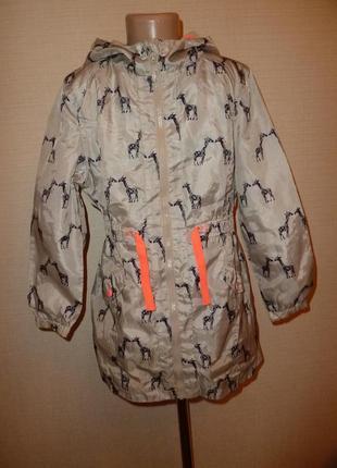 Куртка, ветровка, дождевик, плащ debenhams на 9 лет с жирафами