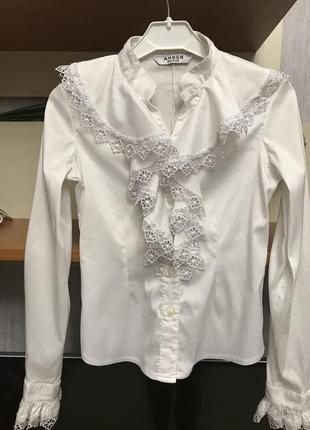 Школьная нарядная блуза блузка ashen morva