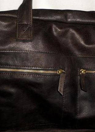Кожанная мужская сумка