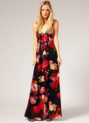 Яркий летний сарафан платье длина maxi от ted baker
