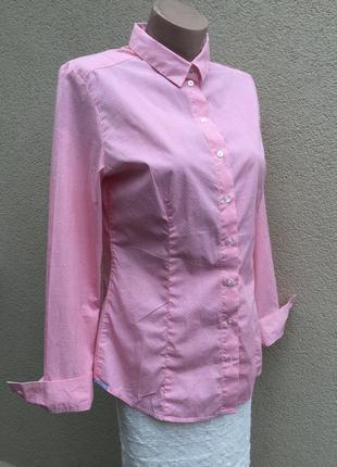 Рубашка кэжуал,офисная,блуза в принт,marc o polo,оригинал,большой размер,хлопок