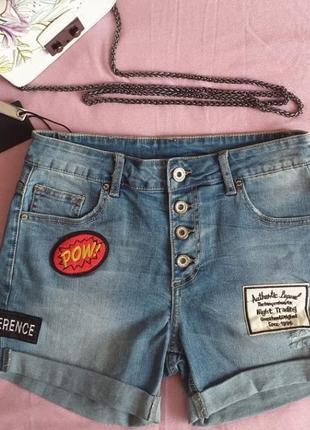Джинсовые шорты pronto moda италия sale распродажа скидка