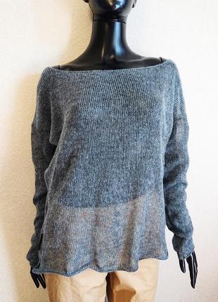 Легкий свитер накидка серый4 фото