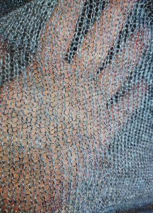 Легкий свитер накидка серый5 фото