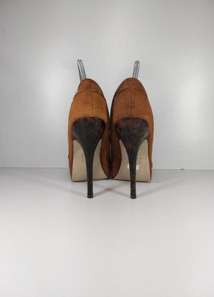 🔝рыжие замшевые туфли на высоком каблуке🚨5 фото